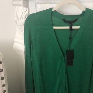 BCBGMaxAzria Sweaters - BCBG max Azria size Small, green long cardigan